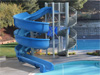 Fiberglass Flume Water Slide Model 1919