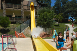 Fiberglass Flume Speed Water Slide Model 1850