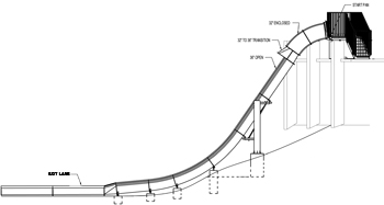 Fiberglass Speed Slide Model 1850 plan view
