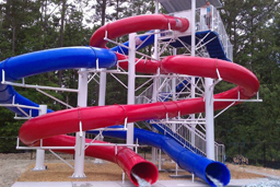 Double Polyethylene Flume Water Slide Model 1641