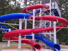 Double Flume Water Slide Model 1641