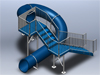 Polyethylene Flume Water Slide Model 1663 3D