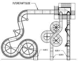 Fiberglass Water Slide Model 1841 plan view