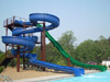Double Fiberglass Flume Water Slide Model 1841