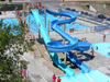 Double Fiberglass Flume Water Slide Model 1873