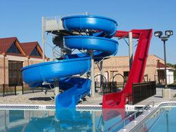Double Fiberglass Water Slide Model 1837