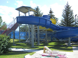 Double Fiberglass Water Slide Model 1900