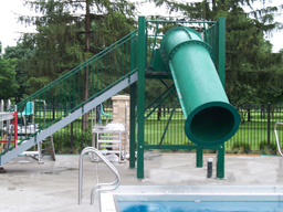 Closed Flume Fiberglass Water Slide Model 5020