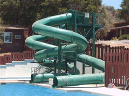 Double Polyethylene Flume Water Slide Model 1645