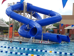 Triple Flume Water Slide Model 1666