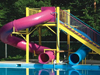 Double Polyethylene Flume Water Slide Model 9412