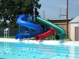 Triple Polyethylene Flume Water Slide Model 9429