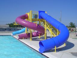 Triple Polyethylene Flume Water Slide Model 9431