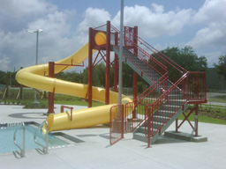 Water Slides: Entry Height 14' to 15' 11""