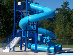 Double Polyethylene Flume Water Slide Model 1640