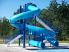 Double Flume Water Slide Model 1640